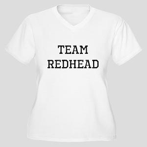 Team Redhead (black) Plus Size T-Shirt