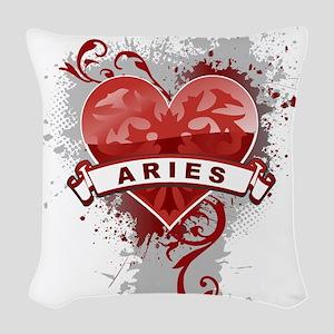 Heart Aries Woven Throw Pillow
