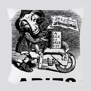 Gothic Aries Woven Throw Pillow