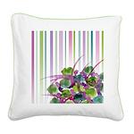 Atom Flowers #28 Square Canvas Pillow