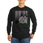 Atom Flowers #28 Long Sleeve Dark T-Shirt