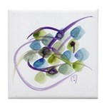Atom Flowers #31 Tile Coaster