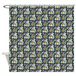 Atom Flowers #31 Shower Curtain