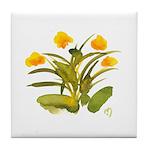 Atom Flowers #34 Tile Coaster