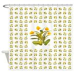 Atom Flowers #34 Shower Curtain