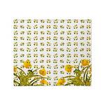 Atom Flowers #34 Throw Blanket