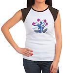Purple and Fuschia Atom Flowers #34 T-Shirt