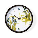 Atom Flowers #3 Wall Clock
