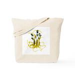 Atom Flowers #3 Tote Bag