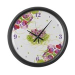 Atom Flowers #36 Large Wall Clock