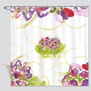 Atom Flowers #36 Shower Curtain