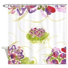 Atom Flowers #36 Shower Curtain