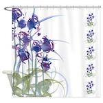 Atom Flowers #39 Shower Curtain