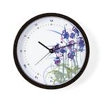 Atom Flowers #39 Wall Clock