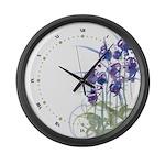 Atom Flowers #39 Large Wall Clock