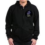 Atom Flowers #39 Zip Hoodie (dark)
