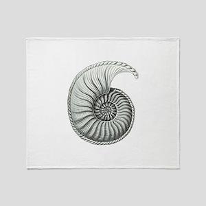 Ammonite Throw Blanket