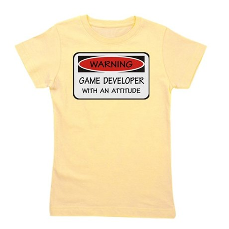 Attitude Game Developer Girl's Tee