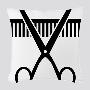 Hairstylist Woven Throw Pillow