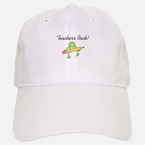 Frog Teachers Rock Baseball Baseball Cap