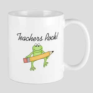 Frog Teachers Rock Mug