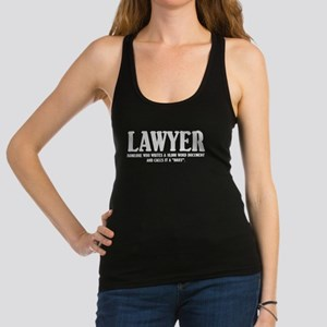 Funny Lawyer Racerback Tank Top