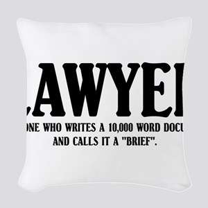 Funny Lawyer Woven Throw Pillow