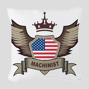 American Machinist Woven Throw Pillow