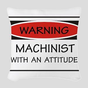 Attitude Machinist Woven Throw Pillow