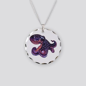 Octopus Necklace Circle Charm