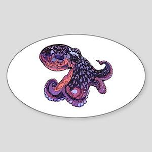 Octopus Sticker (Oval)
