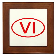 VI Oval - Virgin Islands Framed Tile