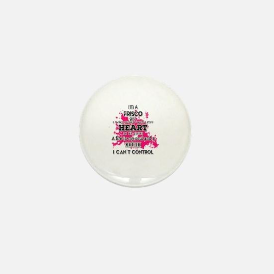 Cute Frisco girl Mini Button