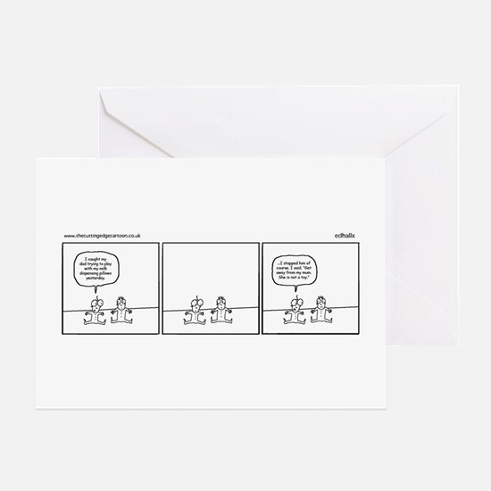 Milk dispensing pillows Greeting Card