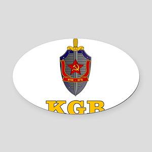 KGB Oval Car Magnet