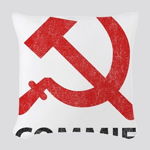 Vintage Commie Woven Throw Pillow