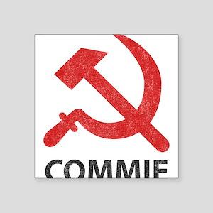 """Vintage Commie Square Sticker 3"""" x 3"""""""