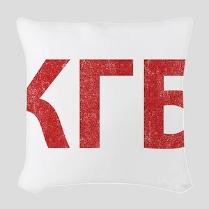 Vintage KGB Woven Throw Pillow