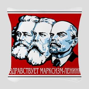 Marx, Engels, Lenin Woven Throw Pillow