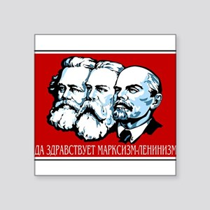"Marx, Engels, Lenin Square Sticker 3"" x 3"""