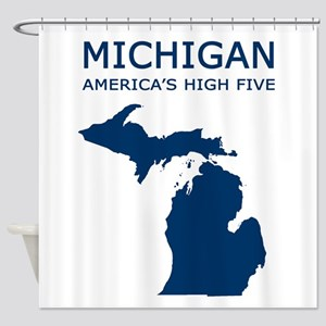 3-MI_high5 copy Shower Curtain