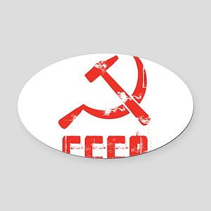 Vintage CCCP Oval Car Magnet