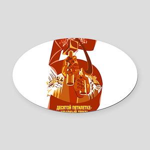 Communist Oval Car Magnet