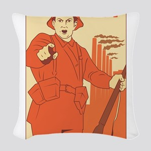 Red Army Woven Throw Pillow