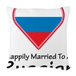 Happily Married Russian Woven Throw Pillow