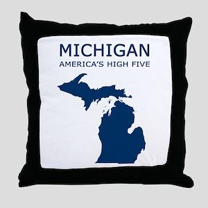 MI_high5 Throw Pillow