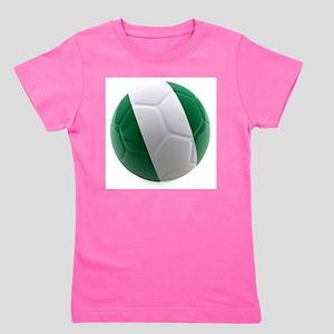 Nigeria World Cup Ball Girl's Tee