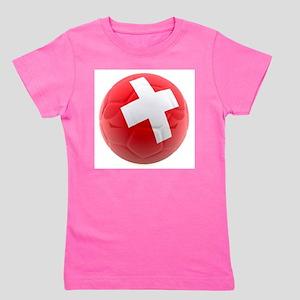Switzerland World Cup Ball Girl's Tee