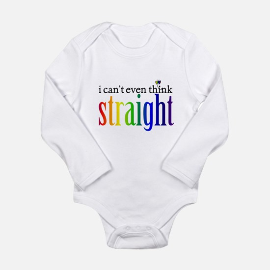 i can't even think straight Long Sleeve Infant Bod