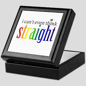 i can't even think straight Keepsake Box